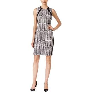 Calvin Klein Womens Casual Dress Printed Sleeveless