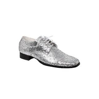 Men's Silver Glitter Disco Shoes