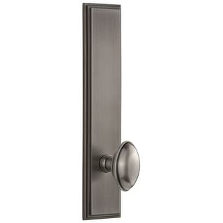 Grandeur CAREDN_TP_SD_NA  Carre Solid Brass Tall Plate Rose Single Dummy Door Knob with Eden Prairie Knob