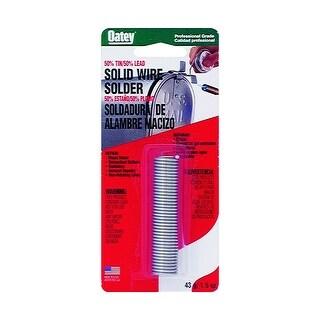 Oatey 53010 50/50 Solid Wire Solder, 1 Oz