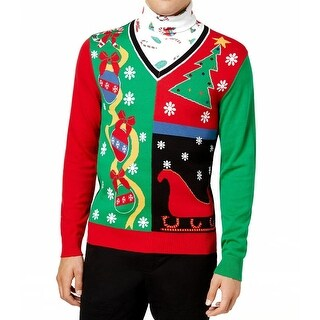 American Rag Green Red Mens Size 2XL Holiday Turtleneck Sweater