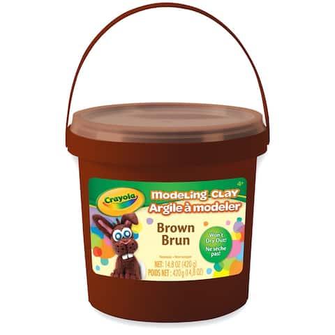 Modeling Clay, 1 lb. Buckets, Brown, 4 Buckets - Brown - 1 lb.
