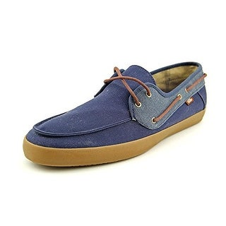 Vans Chauffeur SF Men Moc Toe Canvas Blue Boat Shoe - blue moc canvas