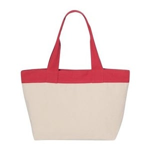 HYP 15.3L Zippered Tote - Natural/ Red - One Size
