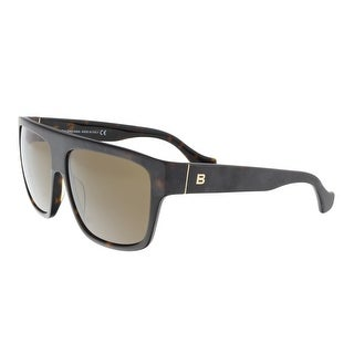 Balenciaga BA0056 52J Black/Brown Square Sunglasses - 58-13-135