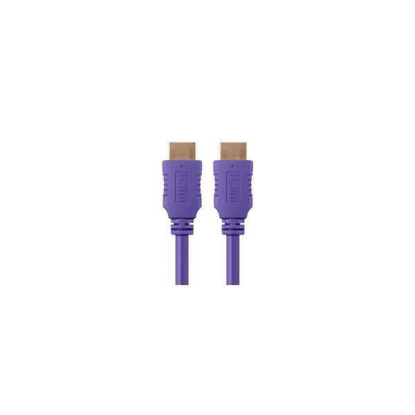 Monoprice 1.5 ft Select HDMI Cable - Purple Network Cable