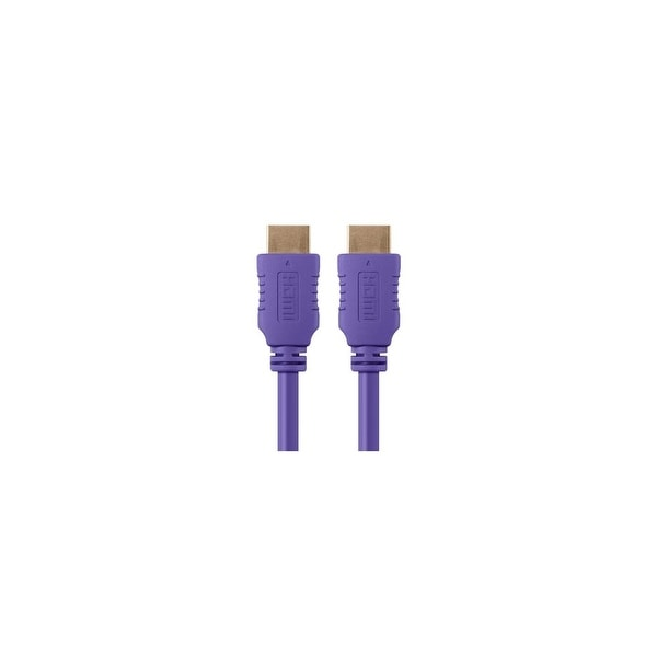 Monoprice 6 ft Select Series HDMI Cable - Purple Network Cable
