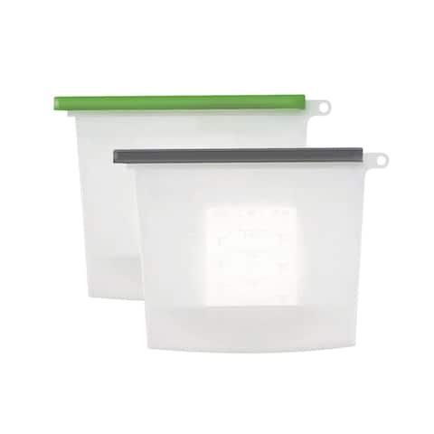 "Zero Food 4PK Bag Silicone 1L - 7.5"" x 8"" x 3"""