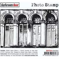 "Darkroom Door Cling Stamp 4.5""X3""-Arches"