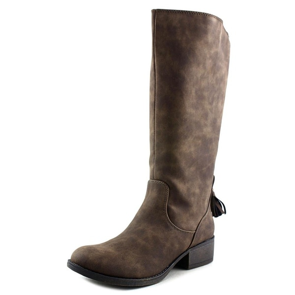 Steve Madden Jnikkii Round Toe Synthetic Knee High Boot
