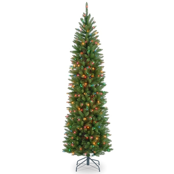 7 5 Pre Lit Kingswood Fir Pencil Artificial Christmas Tree Multicolor Lights