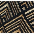 "G Home Collection Luxury Black and Gold Geometry Pattern Embroidered Pillow 20""X20"" - Thumbnail 3"