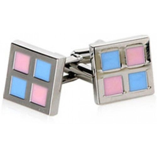 Preppy Pink and Blues Cufflinks