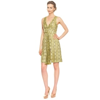 Emanuel Ungaro Geo Print Silk Eve Dress - 4