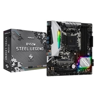 Link to ASRock Motherboard B450M Steel Legend AMD AM4 B450 DDR4 mATX Retail - Black Similar Items in Computer Cards & Components
