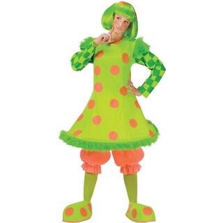 Fun World Lolli the Clown Adult Costume - Green - Standard