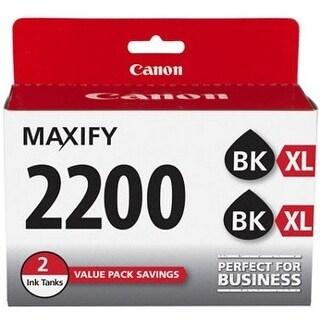 Canon 9255B006 Canon PGI-2200 XL Ink Cartridge - Black - Inkjet - High Yield - 2500 Page (Per Cartridge) - 2 / Pack