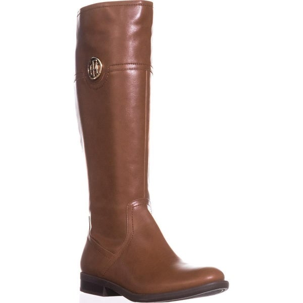 Tommy Hilfiger Silvana2 Logo Riding Boots, Light Brown