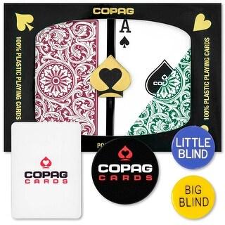 Copag Dealer Kit - 1546 Green/Burgundy Poker Regular