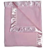 """Raindrops Baby Girls Fleece Receiving Blanket, Pink, 28"""" X 36"""" - One Size"""