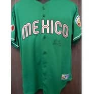 Signed Gonzalez Adrian 2006 World Baseball Classic Team Mexico Replica Jersey Size Large autographe