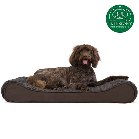 FurHaven Orthopedic Ultra Plush Luxe Lounger Dog Bed