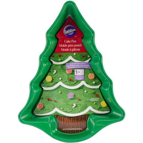 "Novelty Cake Pan-Green Christmas Tree 13.75""X10.25""X2"""