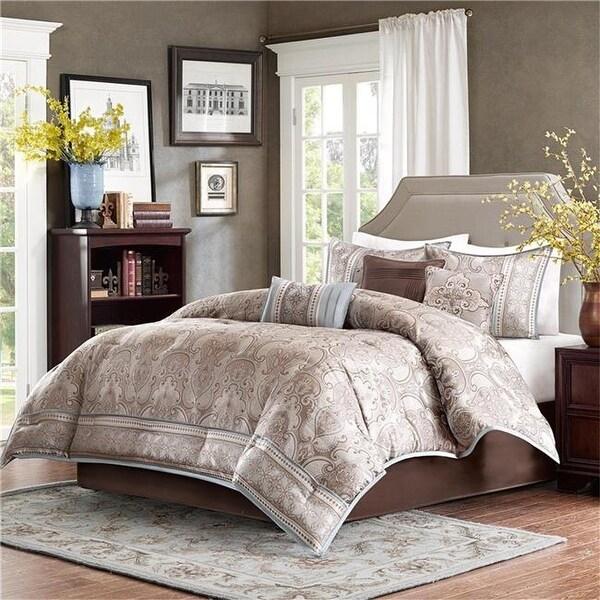 Shop Madison Park Chapman 7 Piece Comforter Set King Taupe Free