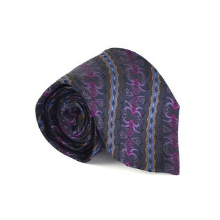 Etro Mens Navy 100% Silk Multiple Classy Print 3.25 In Standard Tie