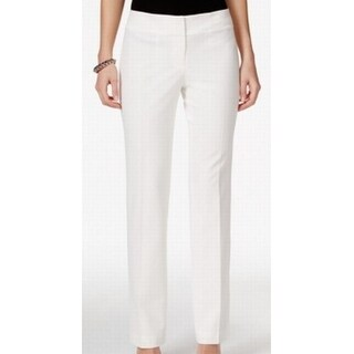 Nine West NEW Lily White Women's Size 8 Straight Leg Dress Pants