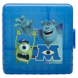 Zak! Designs GoPak Lunch Box Divided Food Storage Container featuring Monsters University, Break-resistant and BPA-free Plastic
