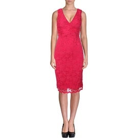 ABS Collection Womens Sleeveless Knee-Length Cocktail Dress - XS