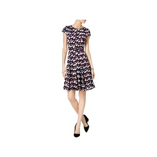 Jessica Howard Womens Wear to Work Dress Printed Knee-Length