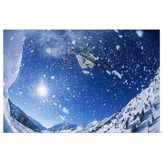 """Ski Jumper in the Air"" Poster Print"