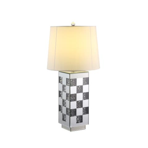 ACME Noralie Table Lamp in Mirrored and Faux Diamonds