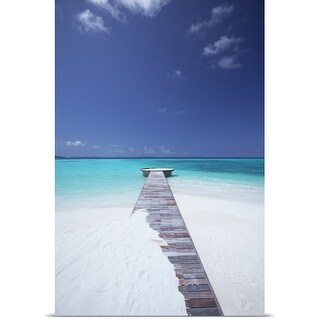 Poster Print entitled jetty leading to ocean, maldives