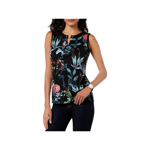 Tommy Hilfiger Womens Blouse Floral Sleeveless