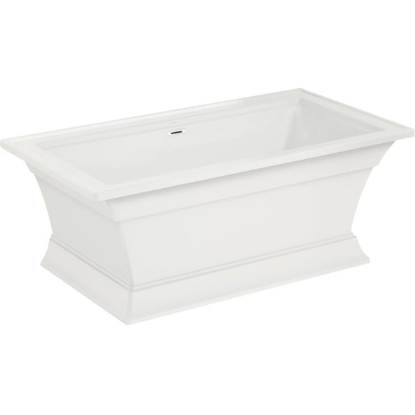 """American Standard 2546.004 Town Square S 68"""" Free Standing Acrylic Freestanding Tub with Center Drain - White"""