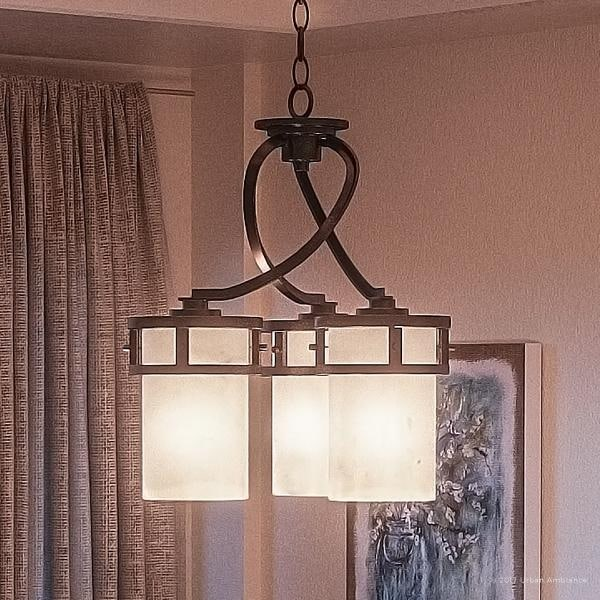 Luxury Rustic Chandelier 22 H X 20 W With Craftsman Style Banded Wrought Iron Design Forged Finish
