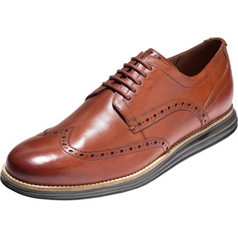 Cole Haan Mens Original Grand Wingtip Brogues Leather Lace-Up