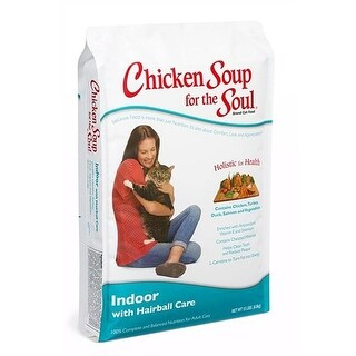 Chicken Soup for the Soul Indoor with Hairball Care Cat Food - 15