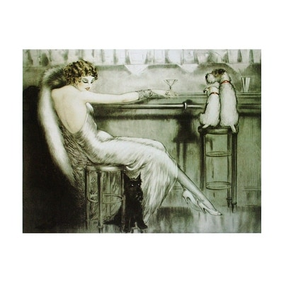''Le Cocktail'' by Louis Icart Vintage Advertising Art Print (16 x 20 in.)