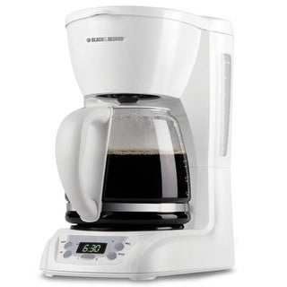 """Black & Decker DLX1050WW Black & Decker DLX1050W 12-Cup Programmable Coffeemaker with Glass Carafe, White"""