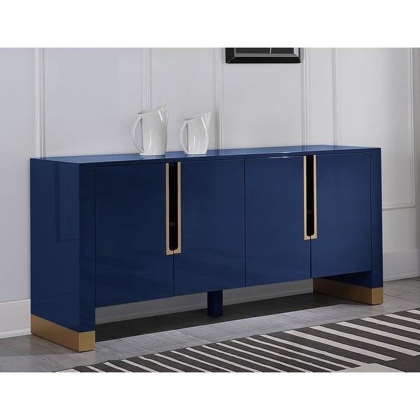 Best Master Furniture Lacquer with Gold Accent 4 Storage Sideboard. Opens flyout.