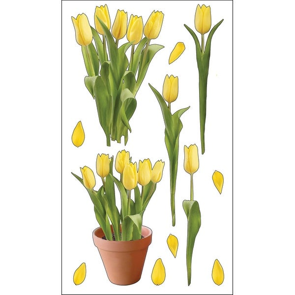 Sticko Stickers-Yellow Tulips - YELLOW