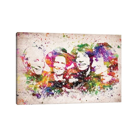 """iCanvas """"The Rolling Stones"""" by Aged Pixel Canvas Print"""