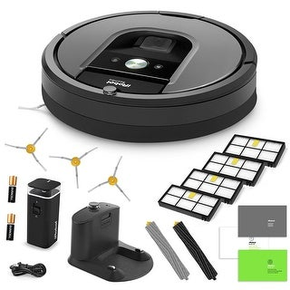 iRobot Roomba 960 Vacuum Cleaning Robot + Virtual Wall Barrier + 3 Side Brushes + 4 HEPA Filters + AeroForce Extractor + More