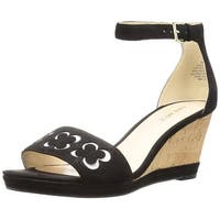 Nine West Womens Julian Leather Open Toe Special Occasion Platform Sandals