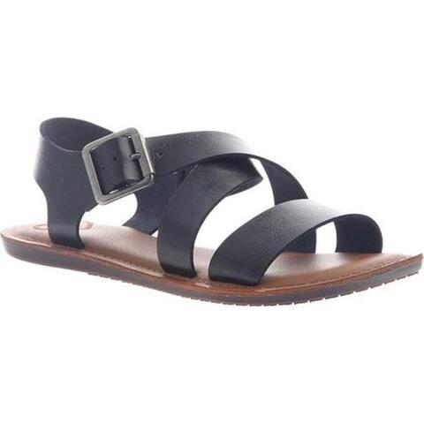 Madeline Women's Sunshine Slingback Sandal Black Synthetic