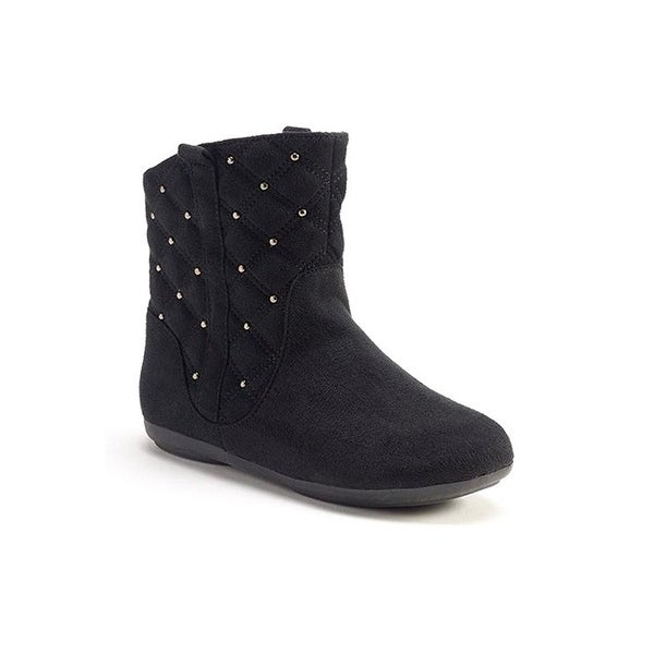 Sonoma Big Girls Cleary Quilted Ankle Boots - Black